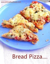 Pizza recipe without oven video in urdu on dailymotion recipes bread pizza bread pizza recipe on tawaoven microwave with video ccuart Gallery